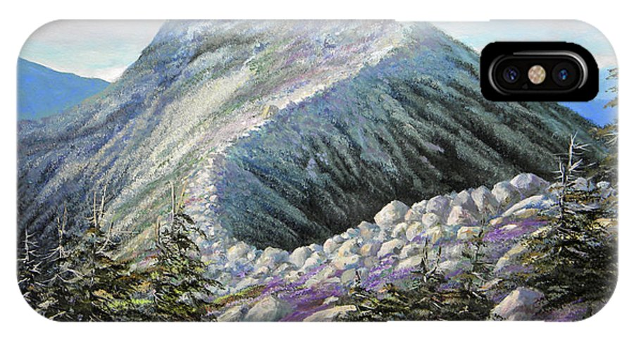 Landscape IPhone X Case featuring the painting Mountain Ridge by Frank Wilson