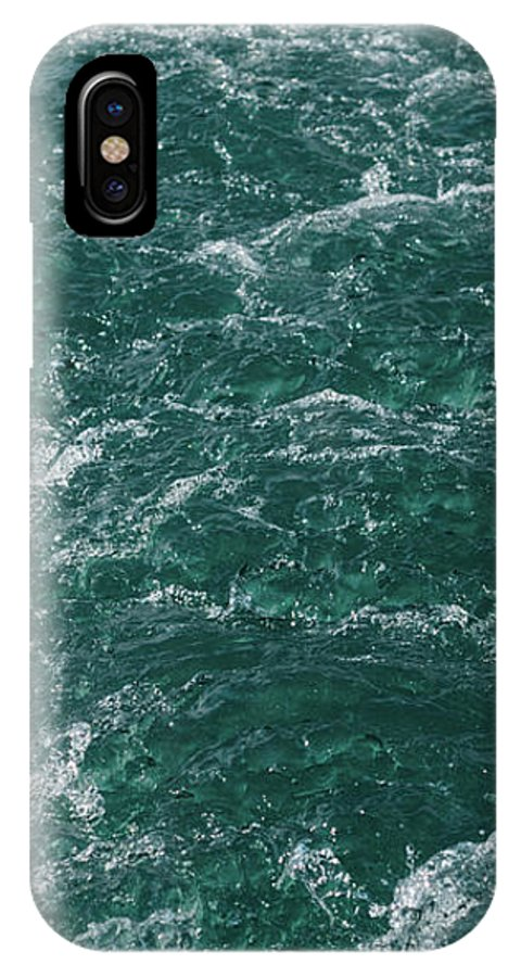 Turquoise IPhone X Case featuring the photograph Mountain River by Happy Home Artistry