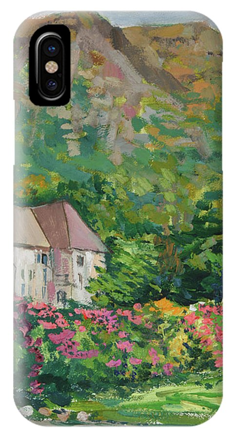 Norway IPhone X Case featuring the painting Mountain Scenery In Dale, Sandnes by Andrei Belevich