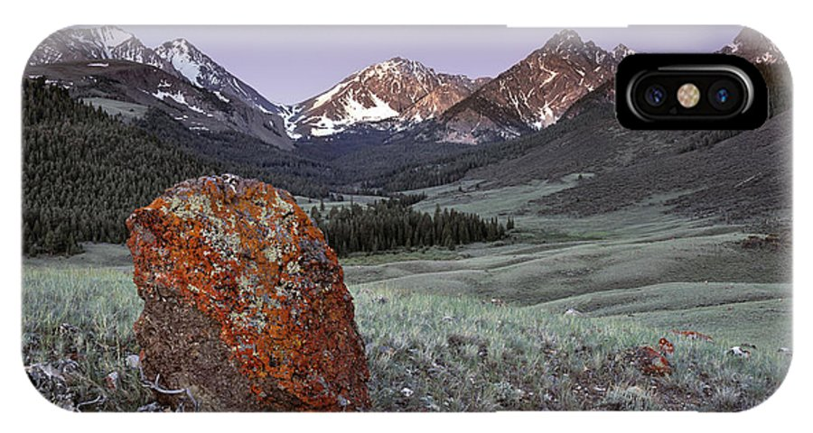 Beautiful IPhone X Case featuring the photograph Mountain Textures And Light by Leland D Howard
