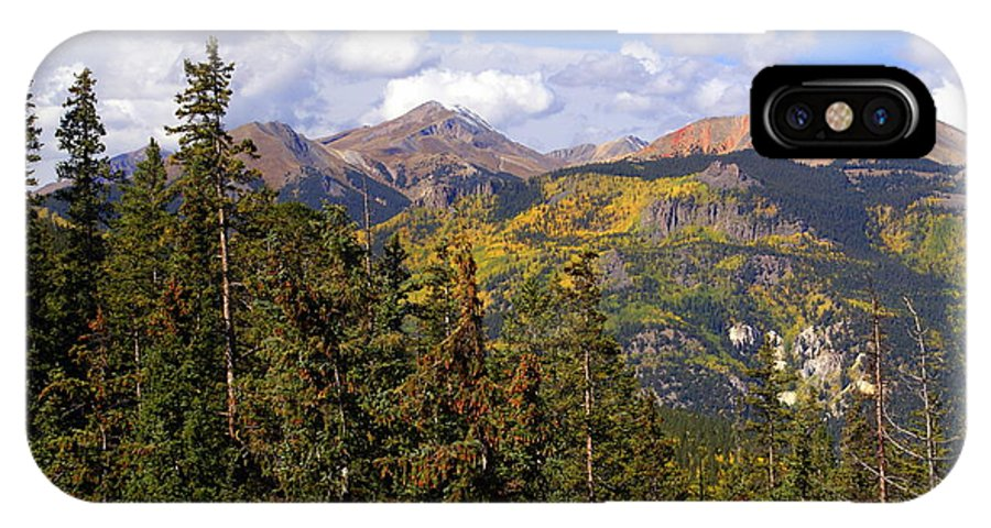 Colorado IPhone X Case featuring the photograph Mountains Aglow by Marty Koch