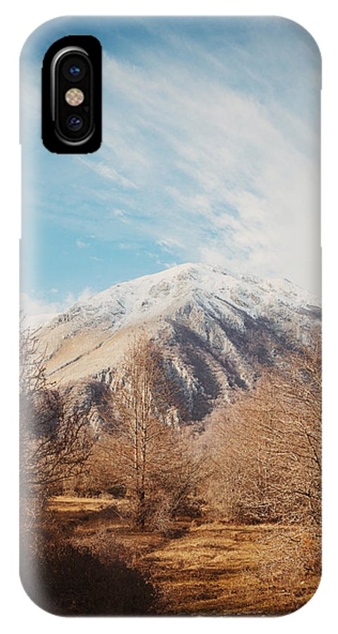 Landscape IPhone X Case featuring the photograph Mountains In The Background Xvi by Salvatore Russolillo