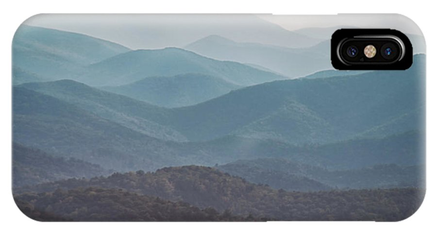 Abstract IPhone X Case featuring the photograph Mountains On Blue Ridge Parkway by Tom Gari Gallery-Three-Photography