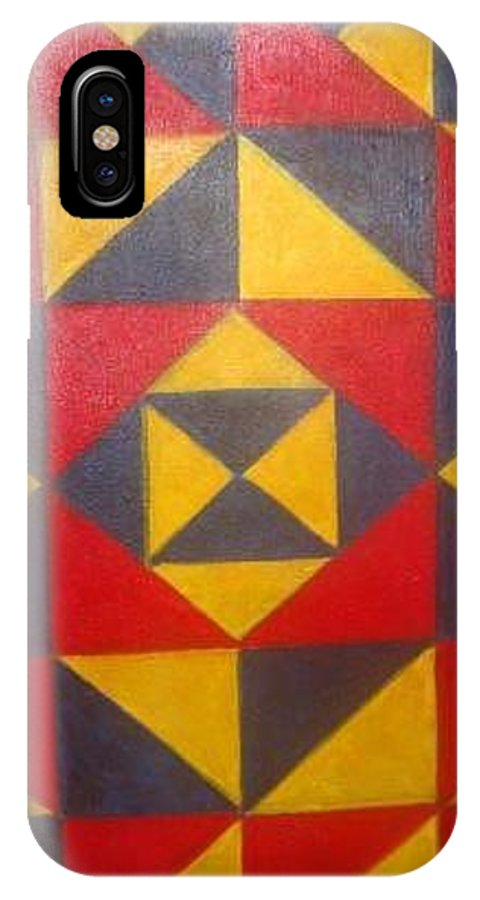 Abstract IPhone X Case featuring the painting Mountian Woman by Andrew Johnson
