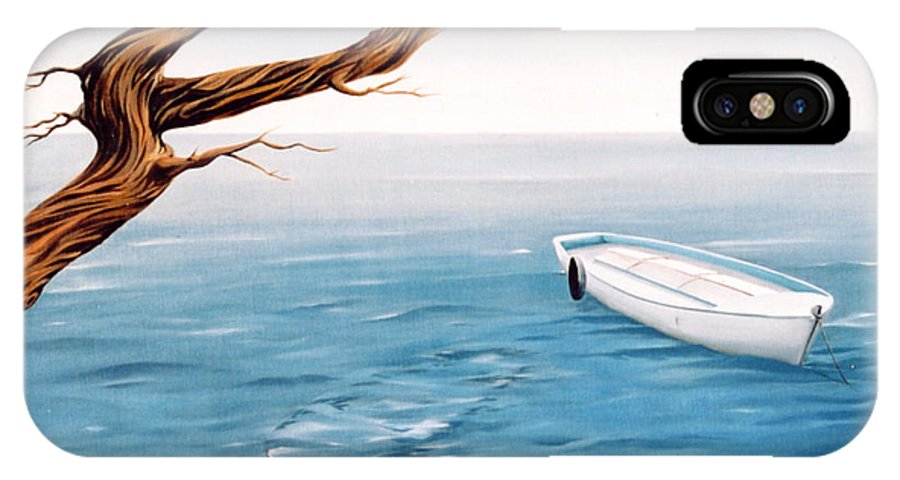 Seascape Prints IPhone Case featuring the painting Mourning Spring by Mark Cawood