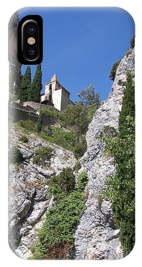 Church IPhone Case featuring the photograph Moustier St. Marie Church by Nadine Rippelmeyer