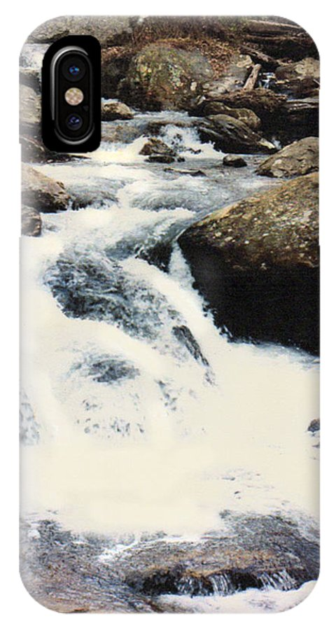 Mountain Stream IPhone X Case featuring the photograph Moutain Stream by John Lautermilch