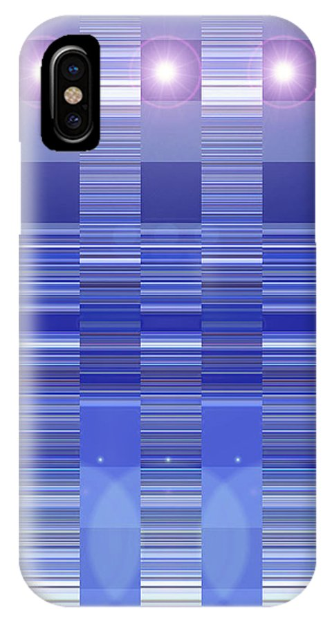 Moveonart! Digital Gallery IPhone X Case featuring the digital art Moveonart Blue Program One by Jacob Kanduch