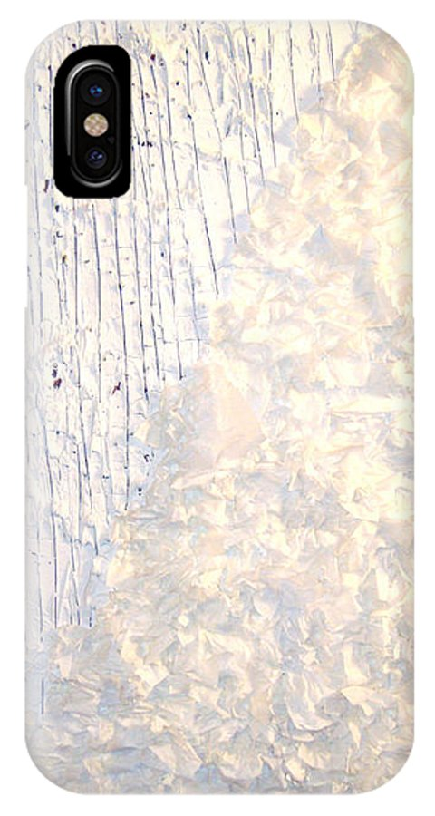 Moveonart! Digital Gallery IPhone X Case featuring the painting Moveonart Brush Of An Angels Wing 1 by Jacob Kanduch
