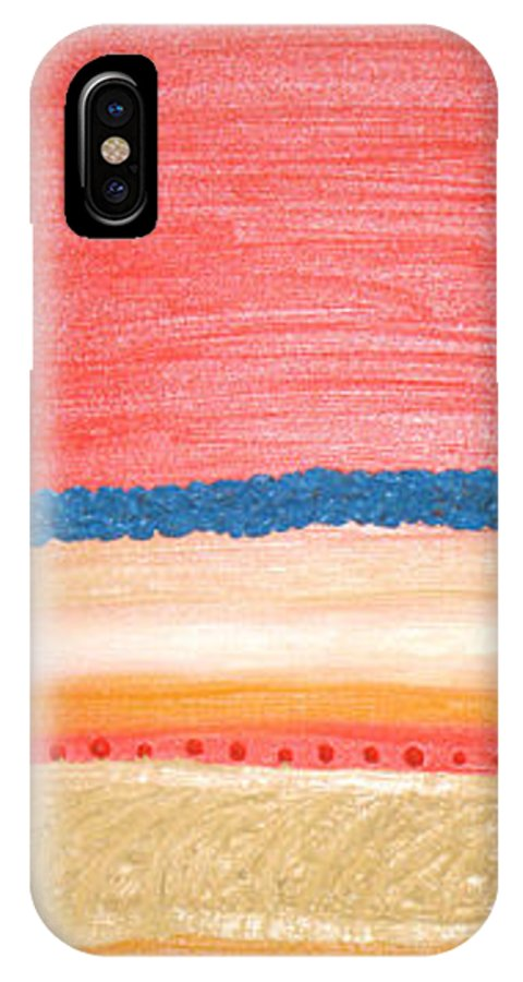 Moveonart! Digital Gallery IPhone X Case featuring the painting Moveonart California Sunset by Jacob Kanduch