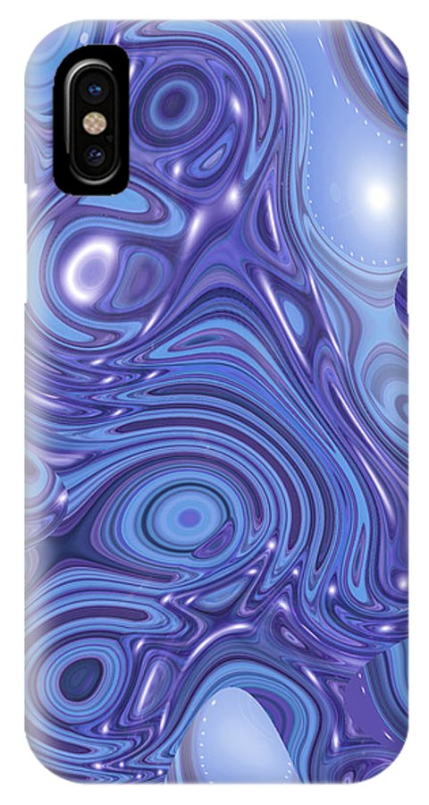 Moveonart! Digital Gallery IPhone X Case featuring the digital art Moveonart Change Of Atmosphere by Jacob Kanduch