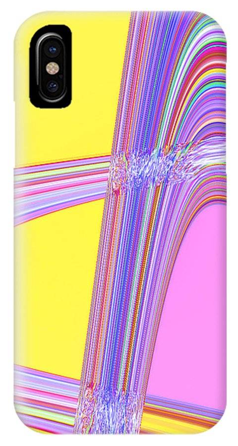 Moveonart! Digital Gallery IPhone X Case featuring the digital art Moveonart Cheer Me Up Wave by Jacob Kanduch
