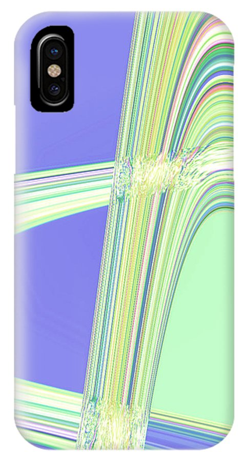 Moveonart! Digital Gallery IPhone X Case featuring the digital art Moveonart Clean Me Up Wave by Jacob Kanduch