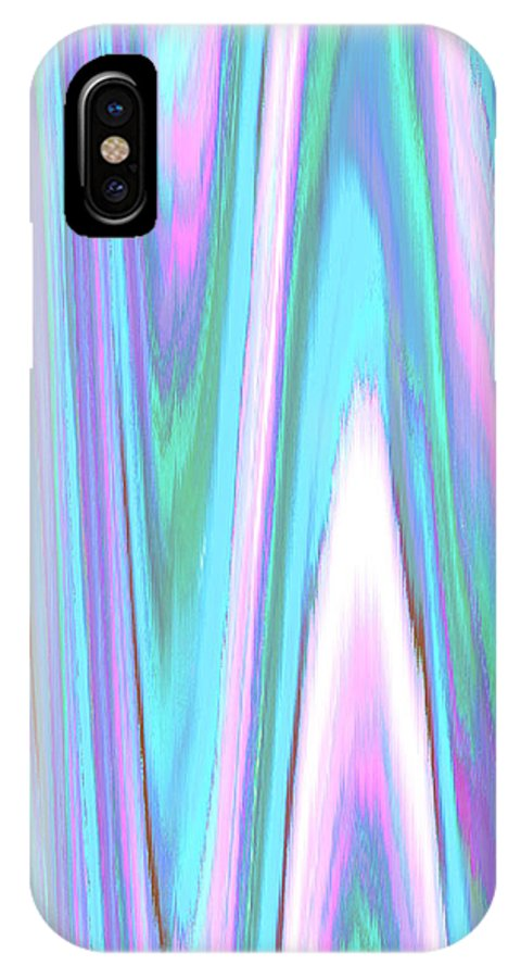 Moveonart! Digital Gallery IPhone X Case featuring the digital art Moveonart Color Mood Waves Two by Jacob Kanduch