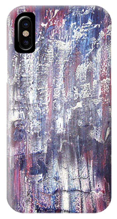 Moveonart! Digital Gallery IPhone X Case featuring the painting Moveonart Deep Calling Deep by Jacob Kanduch