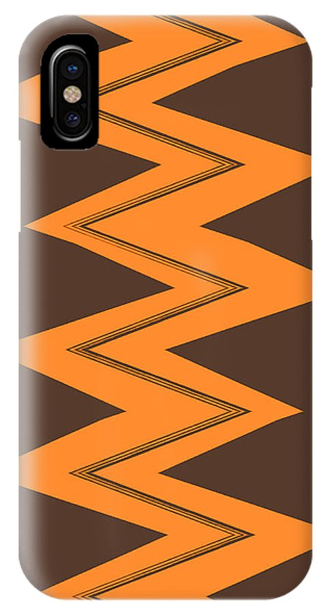 Moveonart! Global Gathering. -- Jacob Kane -- Omnetra IPhone X Case featuring the digital art Moveonart Electricorange by Jacob Kanduch