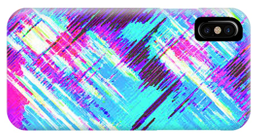Moveonart! Digital Gallery IPhone X Case featuring the digital art Moveonart Feelin I Been Here Before by Jacob Kanduch