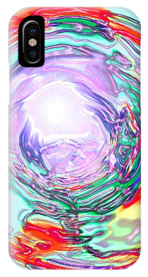Moveonart! Digital Gallery IPhone X Case featuring the digital art Moveonart Finding True Purpose by Jacob Kanduch