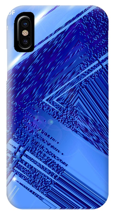 Moveonart! Digital Gallery IPhone X Case featuring the digital art Moveonart Freedom Of Thought Two by Jacob Kanduch