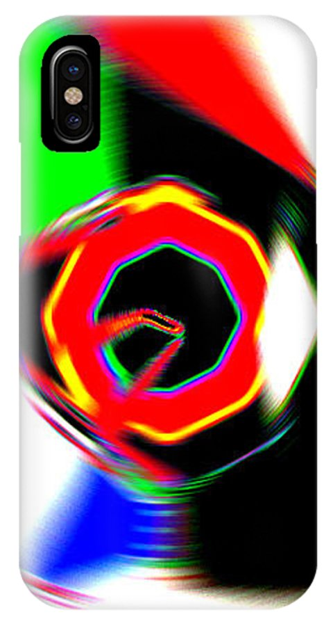 Moveonart! Digital Gallery IPhone X Case featuring the digital art Moveonart Getting In Touch by Jacob Kanduch