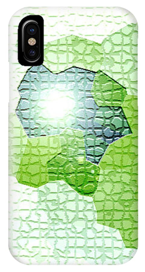 Moveonart! Digital Gallery IPhone X Case featuring the digital art Moveonart Going Green Is Good by Jacob Kanduch