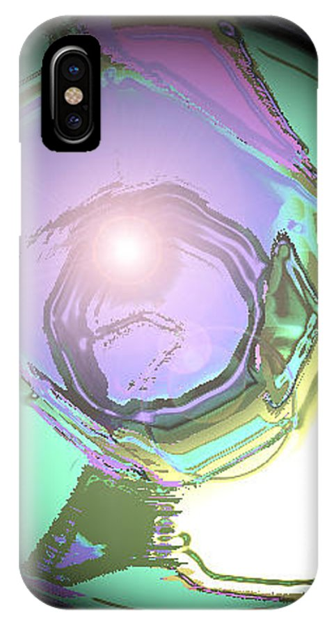 Moveonart! Digital Gallery IPhone X Case featuring the digital art Moveonart Good Consciousness For The World by Jacob Kanduch