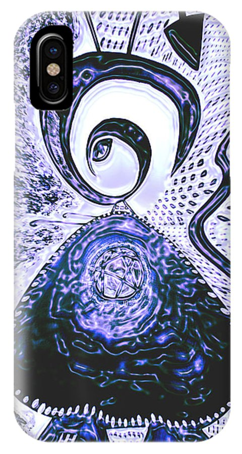 Moveonart! Digital Gallery IPhone X Case featuring the painting Moveonart Gothic Gertrude 1 by Jacob Kanduch