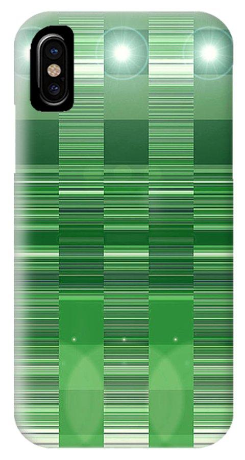Moveonart! Digital Gallery IPhone X Case featuring the digital art Moveonart Green Program Five by Jacob Kanduch