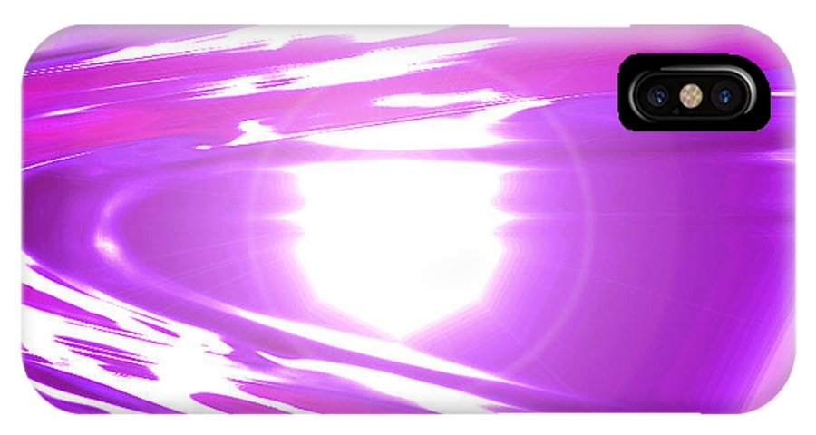 Moveonart! Digital Gallery IPhone X Case featuring the digital art Moveonart I Call Forth The Violet Wave by Jacob Kanduch