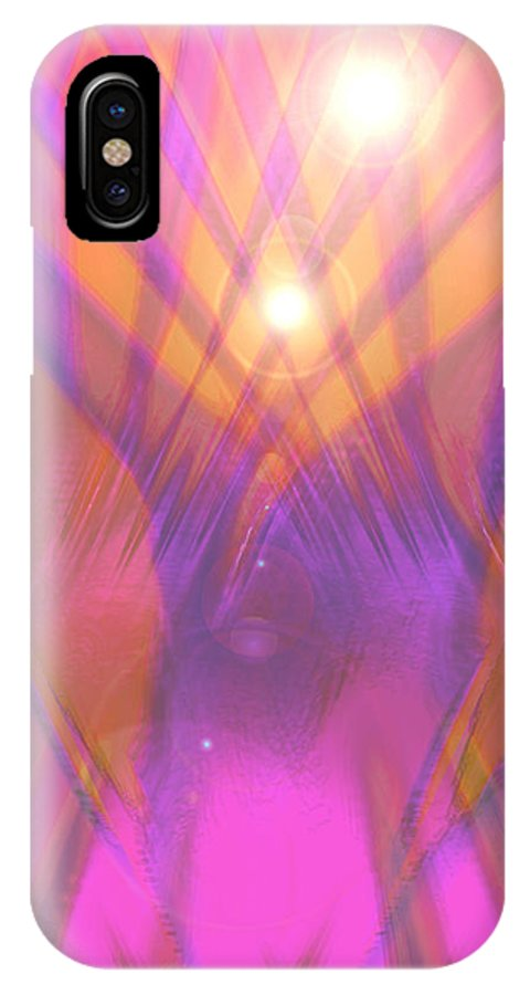 Moveonart! Digital Gallery IPhone X Case featuring the digital art Moveonart I Surrender Two by Jacob Kanduch