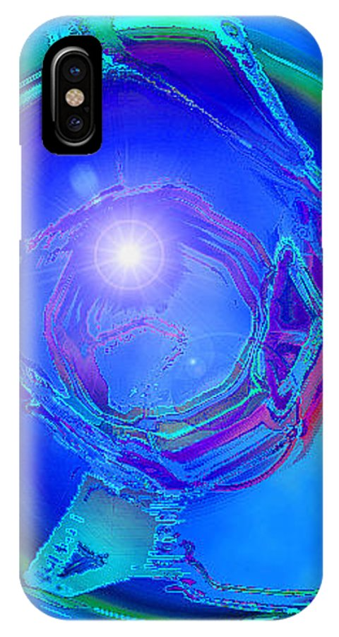 Moveonart! Digital Gallery IPhone X Case featuring the digital art Moveonart In Light Of The One Moment Time Out by Jacob Kanduch