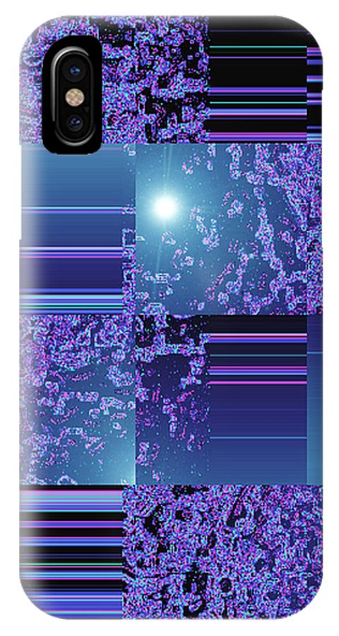 Moveonart! Digital Gallery IPhone X Case featuring the digital art Moveonart Inter Dimensional Shift One by Jacob Kanduch