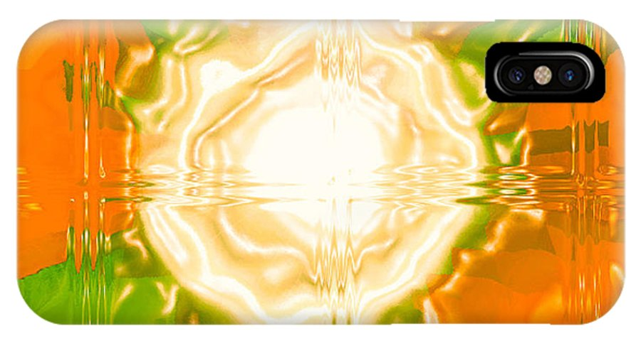 Moveonart! Digital Gallery IPhone X Case featuring the digital art Moveonart Joy With Light In Orange by Jacob Kanduch
