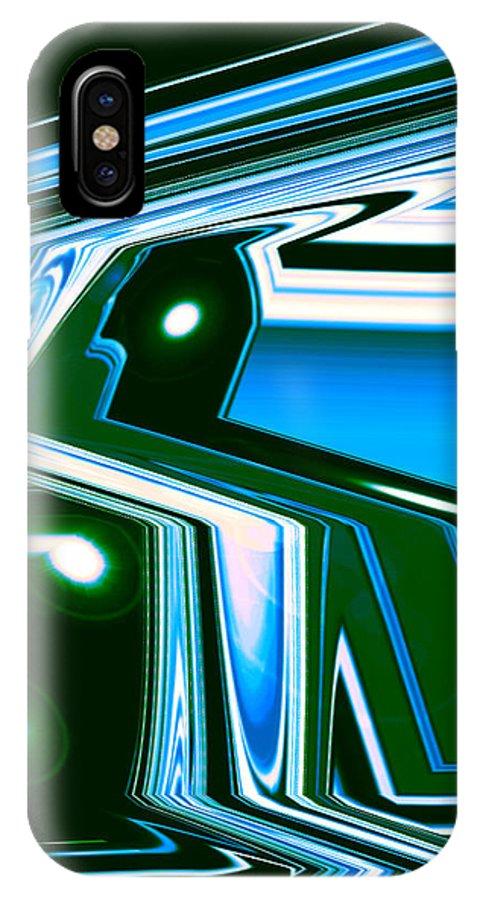 Moveonart! Digital Gallery IPhone X Case featuring the digital art Moveonart Let Go Let God One by Jacob Kanduch