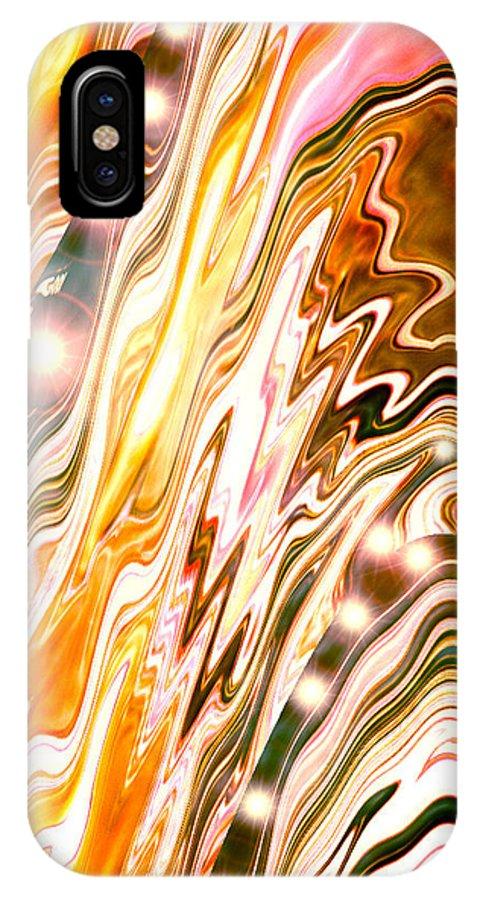 Moveonart! Digital Gallery IPhone X Case featuring the digital art Moveonart Letting Go Three by Jacob Kanduch