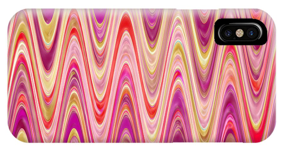 Moveonart! Digital Gallery IPhone X Case featuring the digital art Moveonart Lively Waves Of Joy by Jacob Kanduch