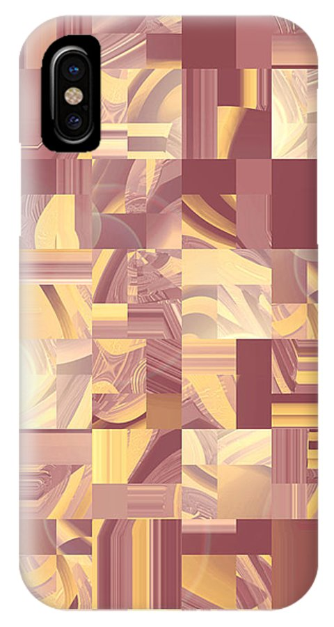 Moveonart Digital Gallery San Francisco California Lower Nob Hill Jacob Kane Kanduch IPhone X Case featuring the digital art Moveonart Midwest Memories 2 by Jacob Kanduch