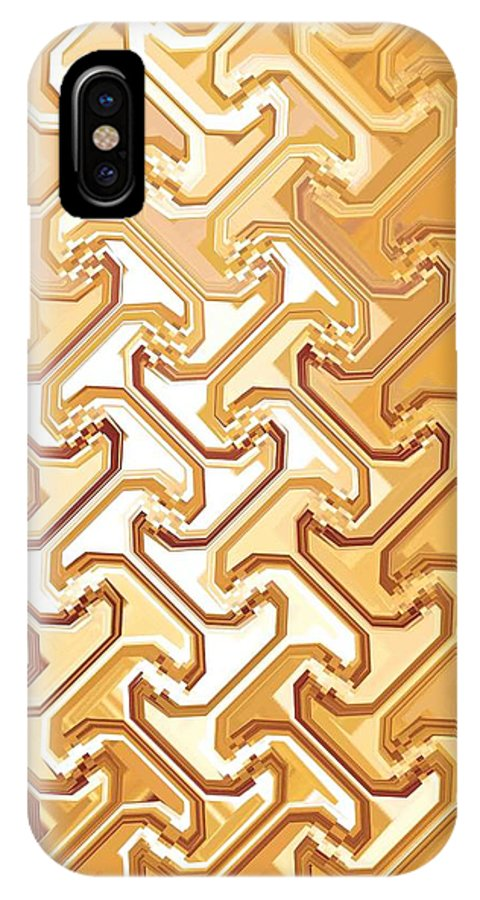 Moveonart Digital Gallery San Francisco California Lower Nob Hill Jacob Kane Kanduch IPhone X Case featuring the digital art Moveonart New Patterns 1 by Jacob Kanduch