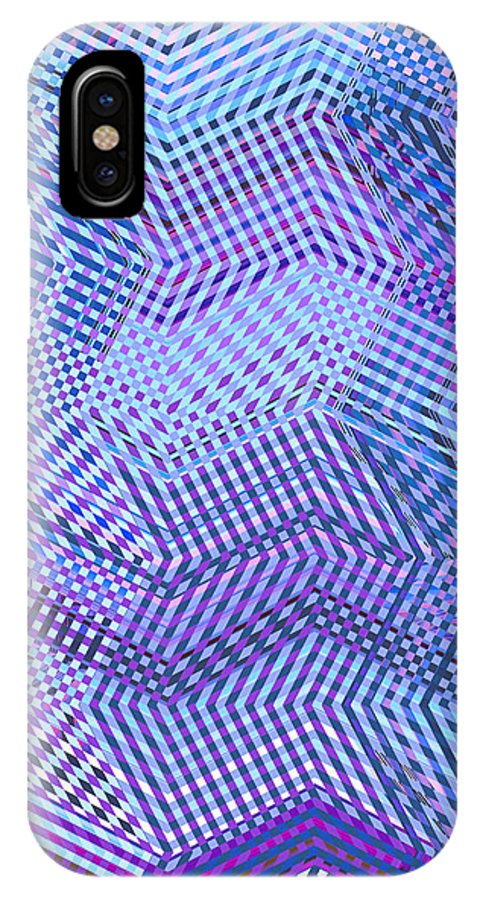 Moveonart Digital Gallery San Francisco California Lower Nob Hill Jacob Kane Kanduch IPhone X Case featuring the digital art Moveonart New Patterns 2 by Jacob Kanduch