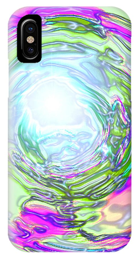 Moveonart! Digital Gallery IPhone X Case featuring the digital art Moveonart New Possiblity by Jacob Kanduch