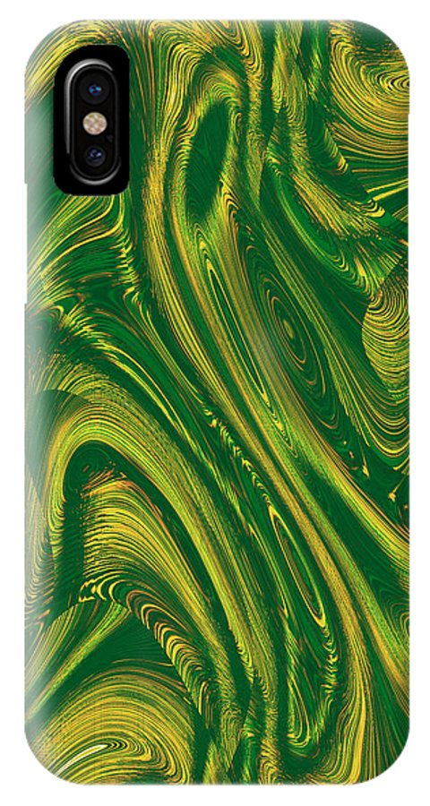 Moveonart! Digital Gallery IPhone X Case featuring the digital art Moveonart Opportunity Within Chaos by Jacob Kanduch