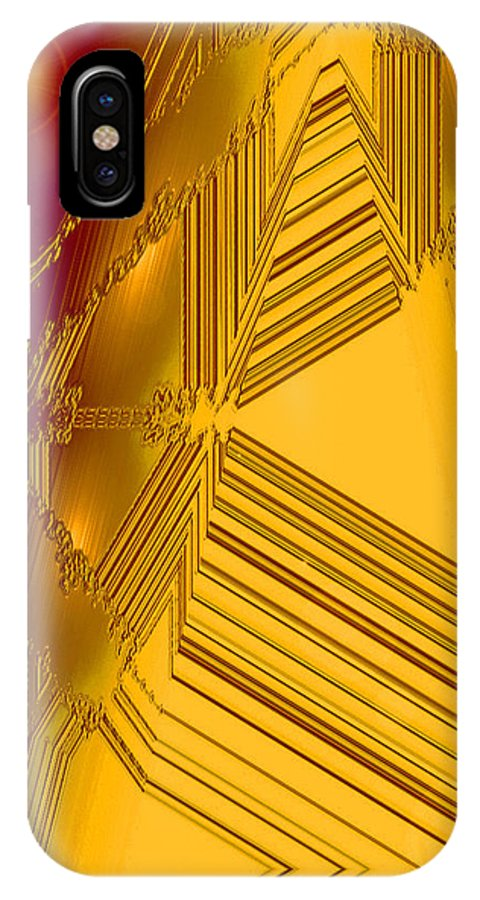 Moveonart! Digital Gallery IPhone X Case featuring the digital art Moveonart Other Worlds Four by Jacob Kanduch