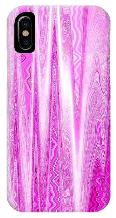 Moveonart Digital Gallery San Francisco California Lower Nob Hill Jacob Kane Kanduch IPhone X Case featuring the digital art Moveonart Pink Dream Frequency by Jacob Kanduch