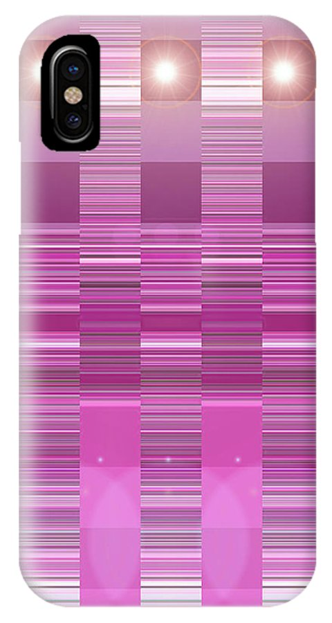 Moveonart! Digital Gallery IPhone X Case featuring the digital art Moveonart Pink Program Three by Jacob Kanduch