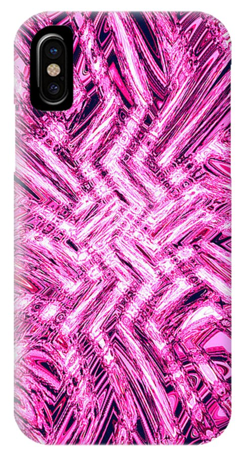 Moveonart Digital Gallery San Francisco California Lower Nob Hill Jacob Kane Kanduch IPhone X Case featuring the digital art Moveonart Pink Shock by Jacob Kanduch