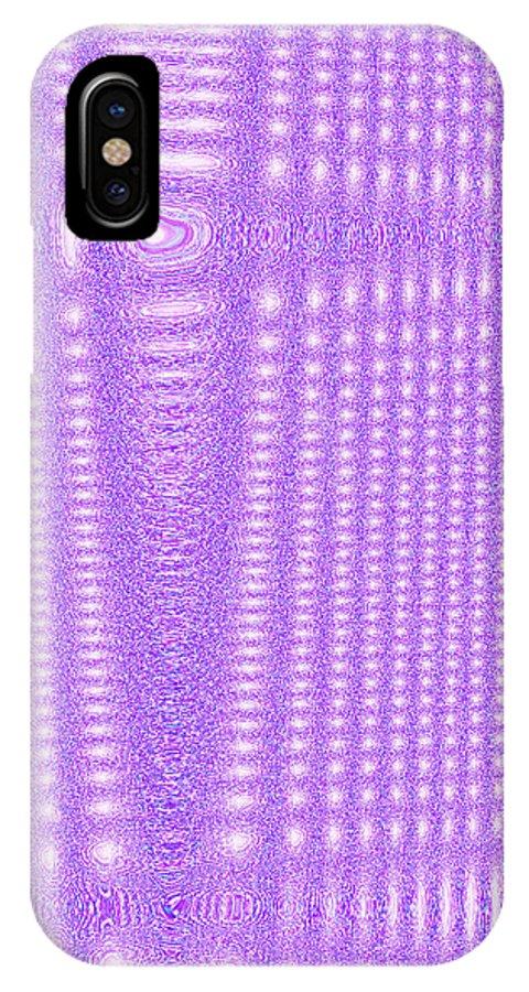 Moveonart! Digital Gallery IPhone X Case featuring the digital art Moveonart Purple Cords by Jacob Kanduch