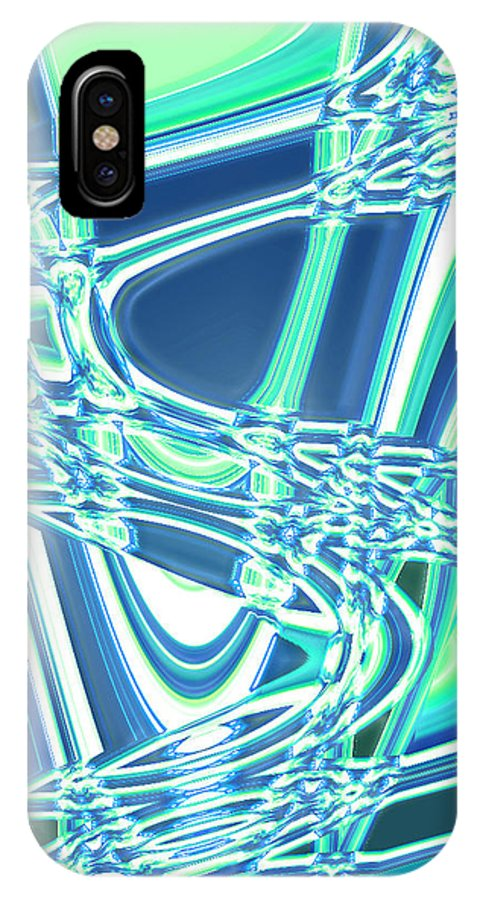 Moveonart! Digital Gallery IPhone X Case featuring the digital art Moveonart Sharing Our Strength by Jacob Kanduch
