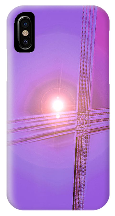 Moveonart! Digital Gallery IPhone X Case featuring the digital art Moveonart Shift In Time 2 by Jacob Kanduch