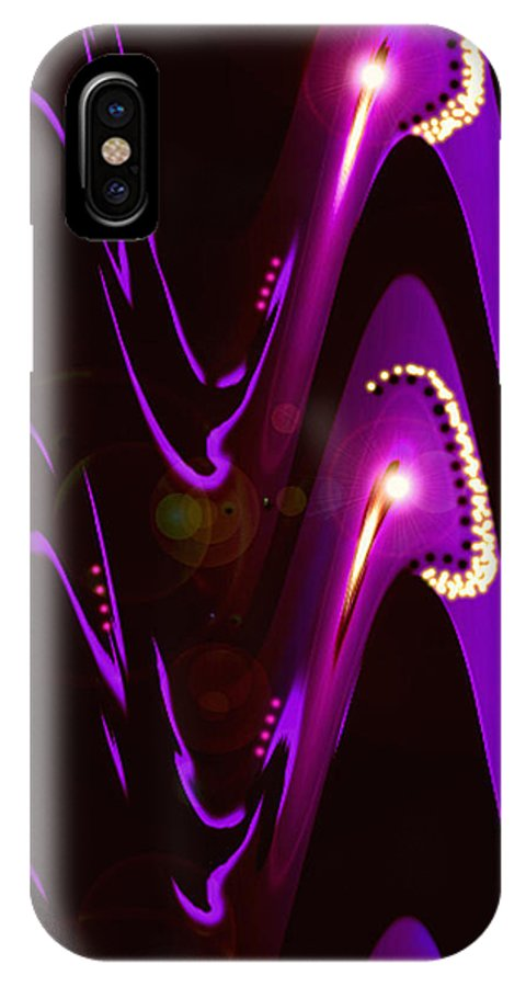 Moveonart! Digital Gallery IPhone X Case featuring the digital art Moveonart Speaking Of Mysterious Dream And Revelations by Jacob Kanduch