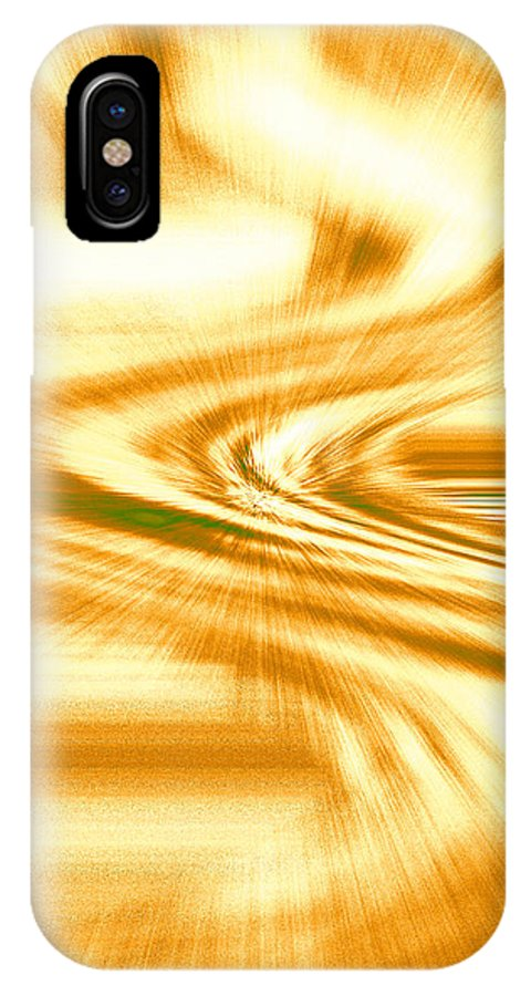 Moveonart! Digital Gallery IPhone X Case featuring the digital art Moveonart They Say The Streets Are Paved With Gold by Jacob Kanduch